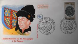 ENVELOPPE 1er JOUR 1977 - Rattachement De La Bourgogne - Dijon Le 02.07.1977 - En Parfait état - - FDC