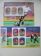 SALE! IMPERFORATED MNH Post Stamps From DPR Korea World Cup Football Argentina 1978 Espana 82 Championship - Korea, North