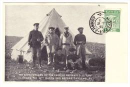 """AK - Griechenland - 1915 Foto Geretete Schiffs Crew Des Britischen Kriegsmarine  """"Ocean"""" In Den Dardanellen - Grèce"""
