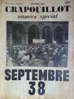 CRAPOUILLOT - SEPTEMBRE 1938- HITLER ACCUEILLE CHAMBERLAIN - JANVIER 1939 - Books, Magazines, Comics