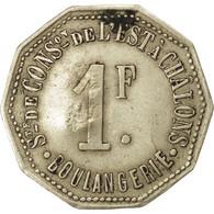 Châlons-sur-Marne, Société De Consommation, 1 Franc, Contremarqué, Elie 30.5var - Monétaires / De Nécessité