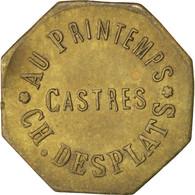 Castres, Au Printemps, Ch.Desplats, 25 Centimes, Elie 20.3 - Monétaires / De Nécessité