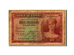 [#304355] Espagne, 10 Pesetas Type 1935 - [ 2] 1931-1936 : République