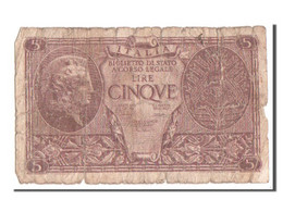 Italie, 5 Lire Type 1944, Pick 31c - [ 1] …-1946 : Regno
