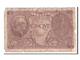 Italie, 5 Lire Type 1944, Pick 31c - [ 1] …-1946 : Kingdom