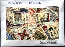 PORTUGUESE COLONIES, 600 DIFFERENT STAMPS - Lots & Kiloware (max. 999 Stück)