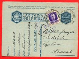 FRANCHIGIA-POSTA MILITARE- PM  121 FANTERIA SIENA-PER BENEVENTO- 146