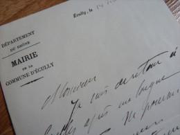Raymond DE VEYSSIERE (1853-1923) Maire ECULLY (Rhône) - Avocat - AUTOGRAPHE - Autographs