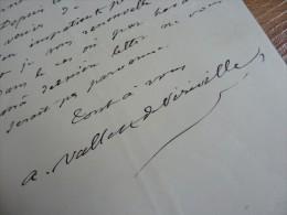 Auguste VALLET De VIRIVILLE (1815-1868) Paléographe - Archéologue - Ecole Des CHARTES - AUTOGRAPHE - Autographs
