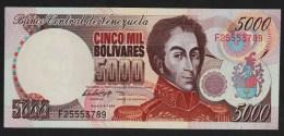 VENEZUELA  5000 Bolívares  06.08.1998  Serie F  P# 78c  UNC  Simón Bolívar - Venezuela