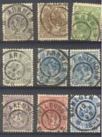 Grootrondstempels Op Verschillende Emissies      --6-- - Periode 1891-1948 (Wilhelmina)