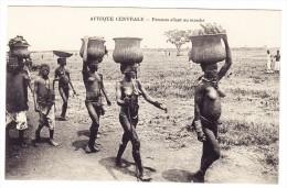 AK Afrique Centrale - Femmes Allant Au Marché - - Cartes Postales