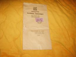 ENVELOPPE UNIQUEMENT DE 1939. / C.M.T CONSTRUCTION MATERIEL THERMIQUE / BRUXELLES POUR AULNOIS SOUS LAON / CACHET + TIMB - Unclassified