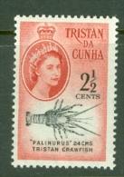 Tristan Da Cunha: 1961   QE II - Marine Life (South African Ccy)   SG46    2½c     MH - Tristan Da Cunha