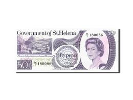 Sainte-Hélène, 50 Pence, Type Elisabeth II - Isla Santa Helena