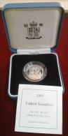 2002 ROYAL MINT THREE LIONS £1 ONE POUND STERLINA SILVER PROOF COIN BOX COA - Gran Bretagna
