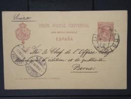 ESPAGNE -    Entier Postal Voyage En 1898  A Voir      P4373