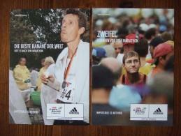 ADIDAS Berlin Marathon Lot De 2 Cartes Postales - Pubblicitari