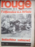 HEBDOMADAIRE LIGUE COMMUNISTE - ROUGE- N� 103- 1ER MARS 1971- OFFENSIVE US BRISEE - INDOCHINE VAINCRA