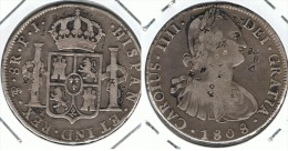 BOLIVIA CARLOS IIII 8 REALES 1808 PLATA SILVER.B - Bolivia