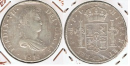 BOLIVIA FERNANDO VII 8 REALES 1814 PLATA SILVER - Bolivia