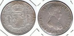 GUATEMALA FERNANDO VII 8 REALES 1817 PLATA SILVER - Guatemala