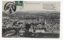 (RECTO/VERSO) BRIVE EN 1913 - VUE GENERALE - LEGER PLI ANGLE BAS A GAUCHE - Brive La Gaillarde