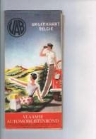Wegenkaart België  Vlaamse Automobilistenbond Carte Routière De Belgique - Cartes Routières