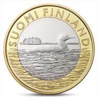 FINLAND FINLANDE FINNLAND 5 EURO ANIMALS PROVINCES - SAVONIA LOON 2014 - Finland