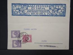 HONGRIE- Jolie Enveloppe Illustrée De Budapest Pour Paris En 1929     A Voir      P4388