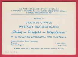 170412A /  Mint  5 Zl. - 1985 POKOJ - PRZYJAZN - WSPOLPRACA , ROMANIA BULGARIA Stationery Entier Poland - Ganzsachen