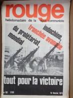 HEBDOMADAIRE LIGUE COMMUNISTE - ROUGE- N� 101- 15 FEVRIER 1971- INDOCHINE