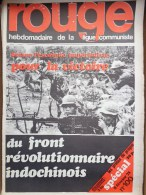 HEBDOMADAIRE LIGUE COMMUNISTE - ROUGE- N� 100- 8 FEVRIER 1971- INDOCHINE