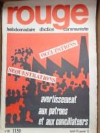 HEBDOMADAIRE ACTION  COMMUNISTE - ROUGE- N� 98 - LUNDI 25 JANVIER 1971- AVERTISSEMENT AUX PATRONS ET AUX CONCILIATEURS