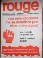 HEBDOMADAIRE ACTION  COMMUNISTE - ROUGE- N� 97- LUNDI 18 JANVIER 1971- SEUL LE COMBAT PAIERA