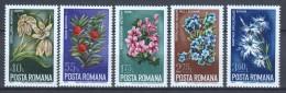 Romania 1974 Mi 3225-3229 MNH FLOWERS - 1948-.... Republieken