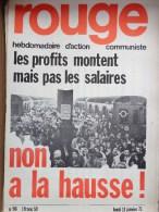 HEBDOMADAIRE ACTION  COMMUNISTE - ROUGE- N� 96- LUNDI 11 JANVIER 1971- NON A LA HAUSSE