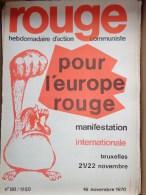 HEBDOMADAIRE ACTION  COMMUNISTE - ROUGE- N� 88- 16 NOVEMBRE 1970- POUR L� EUROPE ROUGE- BRUXELLES