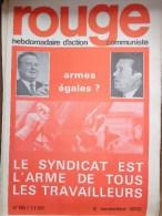 HEBDOMADAIRE ACTION  COMMUNISTE - ROUGE- N� 86- 2 NOVEMBRE 1970- LE SYNDICAT EST L� ARME DE TOUS LES TRAVAILLEURS