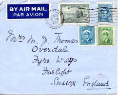 CANADA. N°222 De 1946 Sur Enveloppe Ayant Circulé. Faucheuse-lieuse. - Agriculture