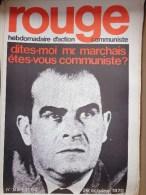 HEBDOMADAIRE ACTION  COMMUNISTE - ROUGE- N� 85- 26 OCTOBRE 1970- DITES MOI M. MARCHAIS ETES VOUS COMMUNISTE ?