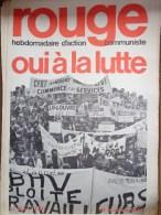 HEBDOMADAIRE ACTION  COMMUNISTE - ROUGE- N� 84- 19 OCTOBRE 1970- OUI A LA LUTTE -  BHV LOUVRE