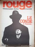 HEBDOMADAIRE ACTION  COMMUNISTE - ROUGE- N� 83- 12 OCTOBRE 1970- LE CONDE YVES BOISSET - HUGO BLANCO
