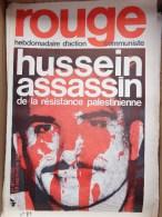 HEBDOMADAIRE ACTION  COMMUNISTE - ROUGE- N�81- 1970- HUSSEIN ASSASSIN - PALESTINE JORDANIE
