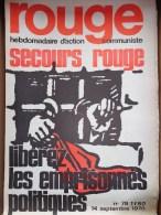 HEBDOMADAIRE ACTION  COMMUNISTE - ROUGE- N� 79- 14-9-1970- LIBEREZ LES EMPRISONNES POLITIQUES- YOUGOSLAVIE
