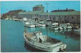 SCALLOP BOATS AT STRAIGHT WHARF, NANTUCKET ISLAND MASSACHUSETTS. UNPOSTED - Nantucket