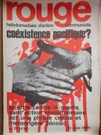 HEBDOMADAIRE ACTION  COMMUNISTE - ROUGE- N�77- 31-8-1970- COEXISTENCE PACIFIQUE - LENINE- ELECTION BORDEAUX SCHREIBER-