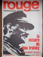 HEBDOMADAIRE ACTION  COMMUNISTE - ROUGE- N� 74-75-76- LA VICTOIRE DE LEON TROTSKY- AOUT 1970