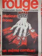 HEBDOMADAIRE ACTION  COMMUNISTE - ROUGE- N� 69- 22 JUIN 1970- THAILANDE- COREE- LAOS- CAMBODGE-VIET NAM