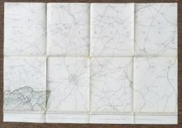 STAFKAART GEMMENICH 1904 AACHEN HEERLEN STOLBERG ESCHWEILER ALSDORF KERKRADE-HOLZ WURSELEN SCHAESBERG EILENDORF S368 - Cartes Topographiques